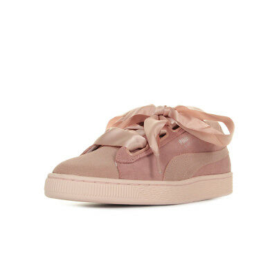 Taille Femme Suede Heart Suède Chaussures Baskets Lacets Puma Rose N0wPZnkOX8