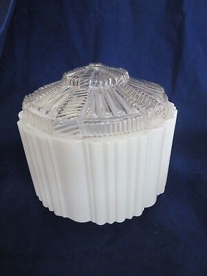 vintage white clear glass ceiling light lamp shade 69 95 picclick