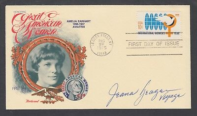 Jeana Yeager, American Test Pilot, signed Amelia Earhart FDC