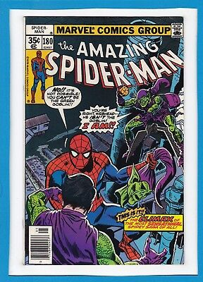 "Amazing Spider-Man #180_May 1978_Very Fine_""return Of The Green Goblin Finale""!"