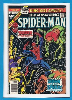 "Amazing Spider-Man King-Size Annual #11_1977_F/vf_""spawn Of The Spider""!"
