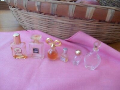 Lot of 6 vintage  Miniature Mini Perfume Bottles -  Fragrances