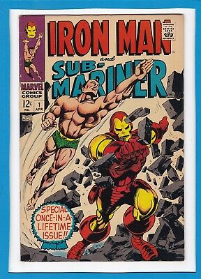 Iron Man And Sub-Mariner #1_April 1968_Vf_Special Once-In-A-Lifetime Issue!