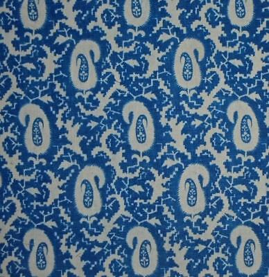 BEAUTIFUL MID 19thc FRENCH PAISLEY LINEN, INDIGO c1850, REF, PROJECTS