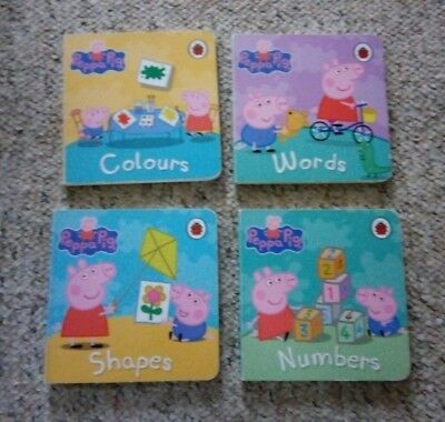 4 Peppa Pig Books - Colours, Words, Shapes & Numbers