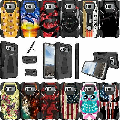 For Samsung Galaxy Note 5 SM-N920 Shockproof Dual Layer Kickstand Bumper Case