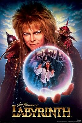 LABYRINTH MOVIE POSTER, (DAVID BOWIE) (size 24x36)