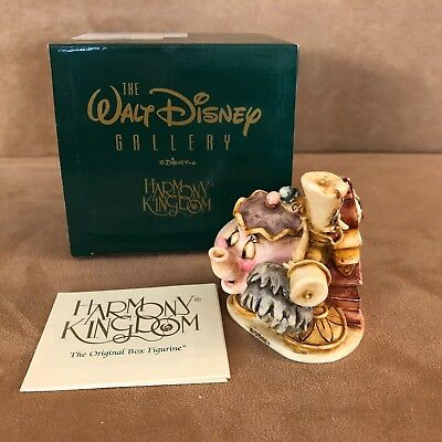 Disney Beauty & the Beast Harmony Kingdom new Lumier Cogsworth Mrs Potts objects