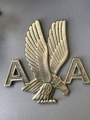 Rare Vintage American Airlines Eagle A/A Metal Brass Wall Plaque