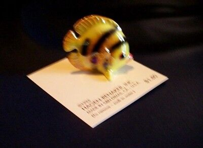 Hagen Renaker Miniature Yellow Flatfish, 1995, On Card, Ex. Cond.