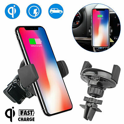 Qi Wireless Charger Holder Car Air Vent Mount Dock for iPhone X 8 Samsung S9 S8