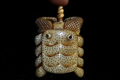 Collectible bone Vintage Old Carving Crab Chinese chinese dynasty Snuff Bottle