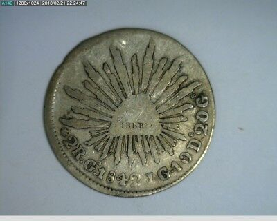 1842 Mexican 2 reale ( 75-259 )