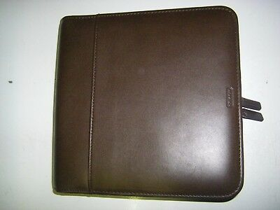 Coach  Leather Mini Port Office Zip Around Folio Organizer