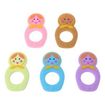 Kids Baby Food Grade-Silicone Teether Teething Pacifier Pendant Soother Chew Toy