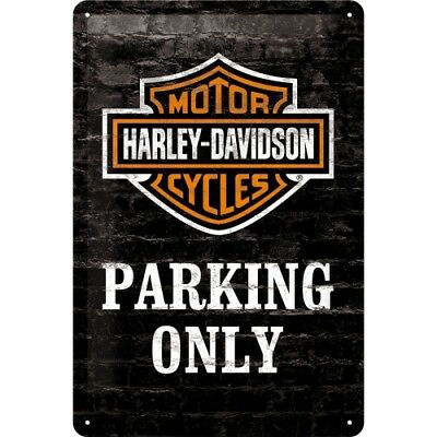 Blechschild 22231 - Harley Davidson Parking Only - 20 X 30 cm