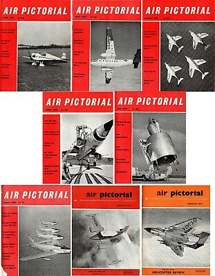 Air Pictorial Magazine (8): Jan, Feb, July, Aug & Oct 1959 + Apr, June & July 60