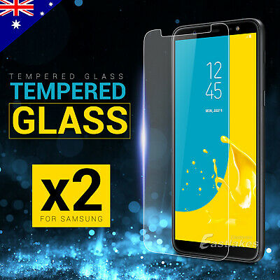 2x Tempered Glass Screen Protector Samsung Galaxy J8 J2 Pro A8 2018 J7 Prime J5