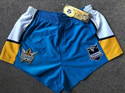 NRL Telstra ISC Gold Coast Titans Shorts Adult Sizes  Clearance Sale