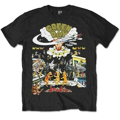 Small Black Mens Green Day 1994 Tour T-shirt - Dookie Special Edition Shirt