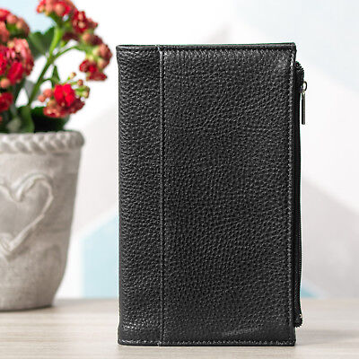 """Black 7x4"""" A6+ Faux Leather Lined Bullet Journal 192 Page Paper Notebook Planner"""