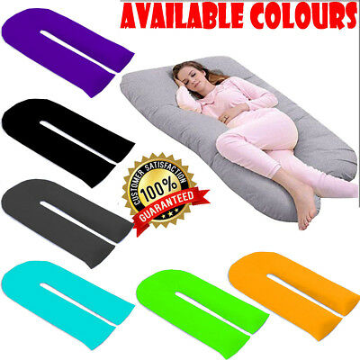12Ft Plain Dyed U Body/Bolster Support Maternity Pregnancy Support Pilow OR Case