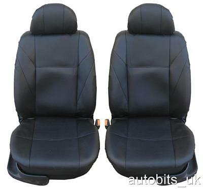 1+1 Leatherette Black Seat Covers For Renault Clio Megane Laguna Scenic