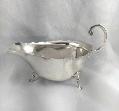 London 1916 English Sterling Mappin & Webb Footed Sauce Boat