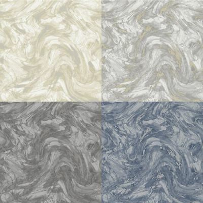 Italian Vinyl Marble Effect Belgravia Decor Carrara Pewter Wallpaper GB8471-A