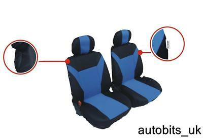 Fabric Blue-Black 1+1 Front Seat Covers For Peugeot Partner Expert Boxer