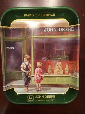 """JOHN DEERE """"A Friend In Need"""" Serving Plate Display Collectors Dish"""