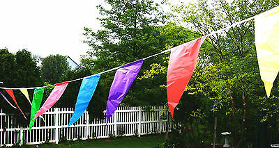 100' 48 Poly Pennant Flags Banner Grand Opening Sale Streamer String Open House