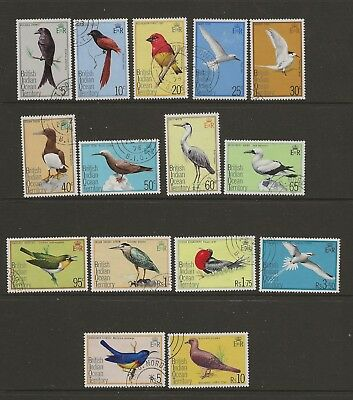British Indian Ocean Territory (BIOT) 1975 Birds set of 15 to 10R VFU
