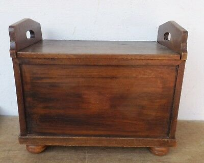 Antique Solid Wood Folding Bench/Seat Chest/einzelsitzbank with Turned Legs