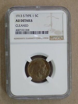 1913 S Type 1 5C Buffalo Nickel Ngc Au Details