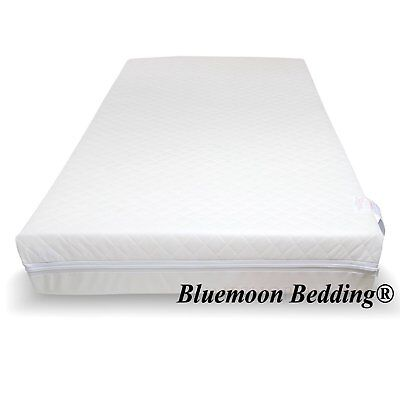 Baby Toddler Cot Bed Breathable QUILTED AND WATER Resist Foam Mattress All Sizes