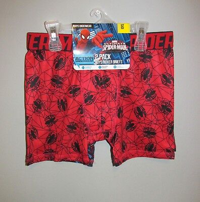 Boys 2 PACK Spider-man Boxer Briefs, Size XS (4) - BRAND NEW W TAGS