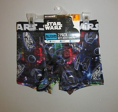 Boys 2 PACK Star Wars Boxer Briefs, Size XS (4) - BRAND NEW W TAGS