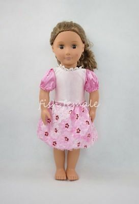Pink Paillette Princess Dress Party Skirt Miniskirt For 18''American Girl Doll