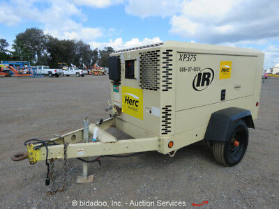 2011 Ingersoll Rand XP375WJD 375 CFM Towable Air Compressor Deere bidadoo