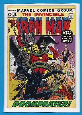 Invincible Iron Man #43_Nov 1971_Fine+_Giant-Man/wasp Back-Up_Bronze Age Giant!