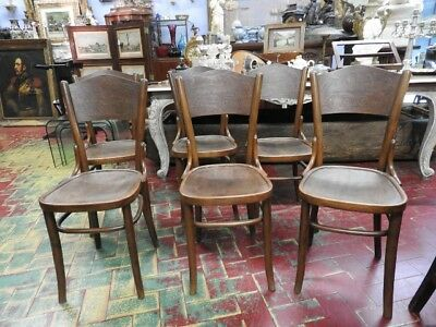 Group Of 6 Ancient Rustic Chairs From Osteria Early 900 Period