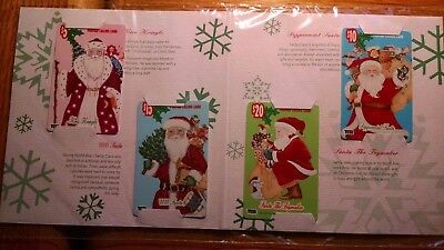 Lot Of 10 - Sets Of Four (4) Santa Claus Phone Calling Cards New, Never Used