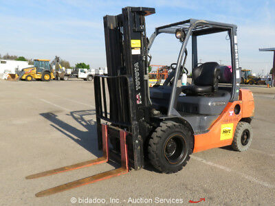 2011 Toyota 8FGU25 5K lbs Warehouse Industrial Forklift Lift Truck D/F S/S