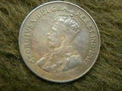 1922 Canada Small Cent - George V - Rare Early Date Copper - Nice One