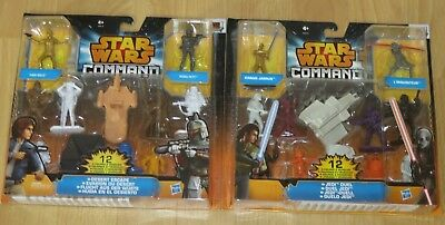 2 Sets Desert Escape und Jedi Duel 12 Figuren Star Wars Command Hasbro*