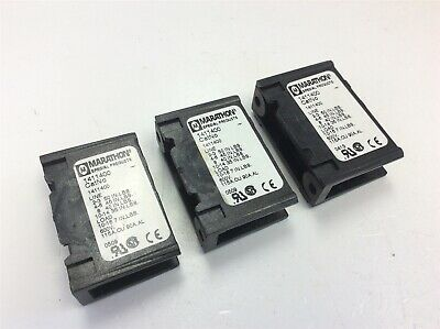 Lot of 3 Marathon 1411400 Power Distribution Block 1-Pole 600V 115A. CU 90A.AL