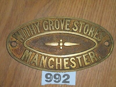 Vintage Brass Safe Plaque Withy Grove Stores Manchester