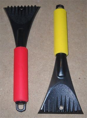 "Lot of 2 NEW Hopkins Windshield ICE SCRAPERS 11"" - Cushioned Grip - Made in USA"