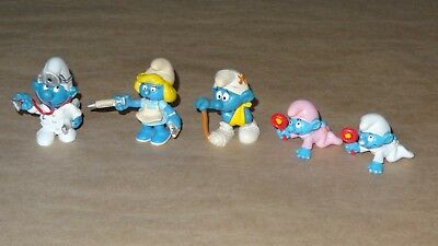 Smurf / Smurfette Collection lot of 5 Smurfs Vintage Rare Used Display Figurines